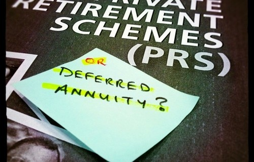 prs deferred annuity